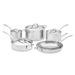 WS Open Kitchen Stainless-Steel 10-Piece Cookware Set