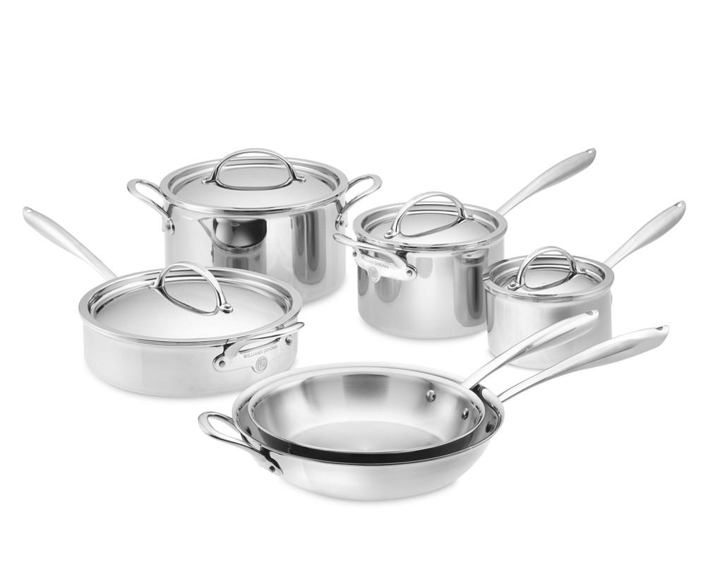 Williams Sonoma Open Kitchen Stainless Steel  Piece Cookware Set