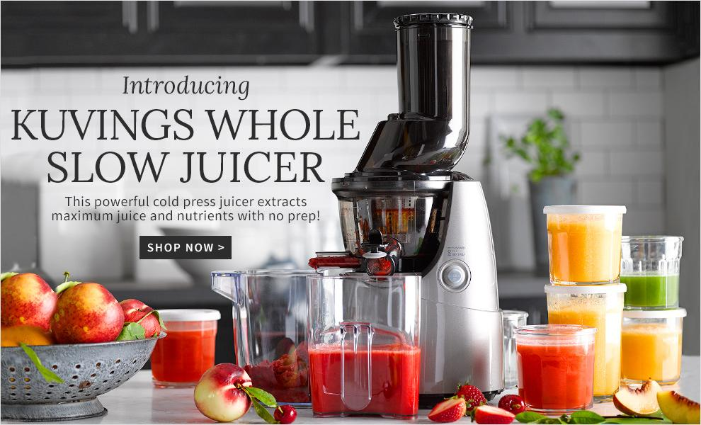 Kuvings Whole Slow Juicer Williams Sonoma : Cookware, Cooking Utensils, Kitchen Decor & Gourmet Foods Williams-Sonoma