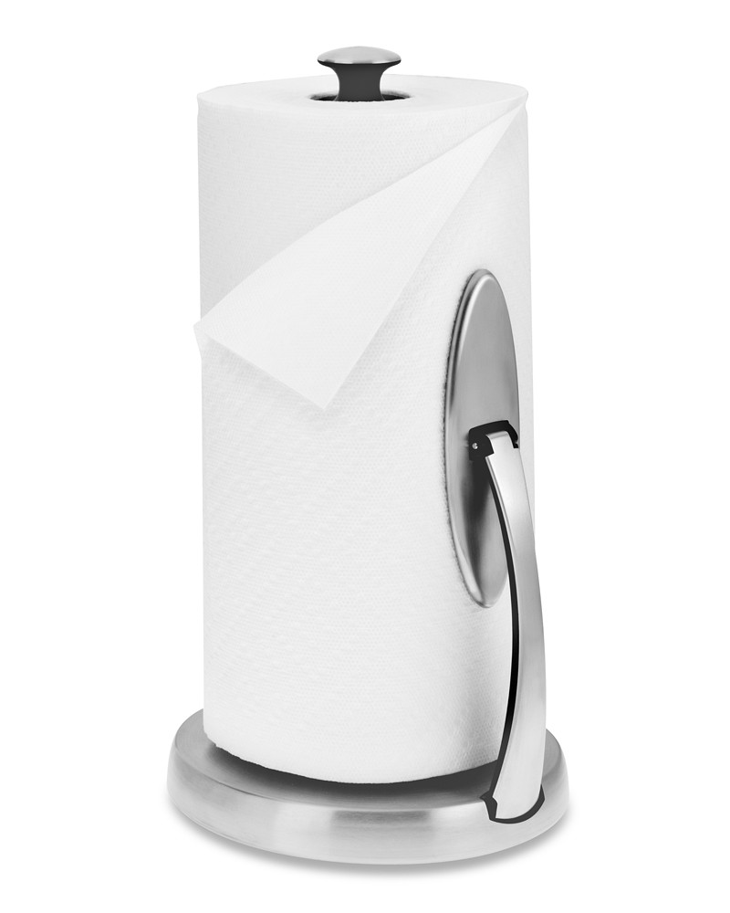 OXO Paper Towel Holder, Brushed Stainless-Steel | Williams Sonoma AU