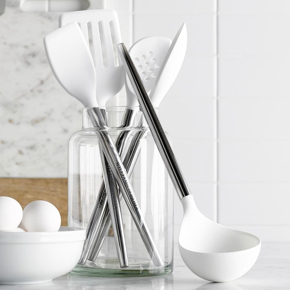 Williams Sonoma Stainless-Steel Silicone Slotted Turner