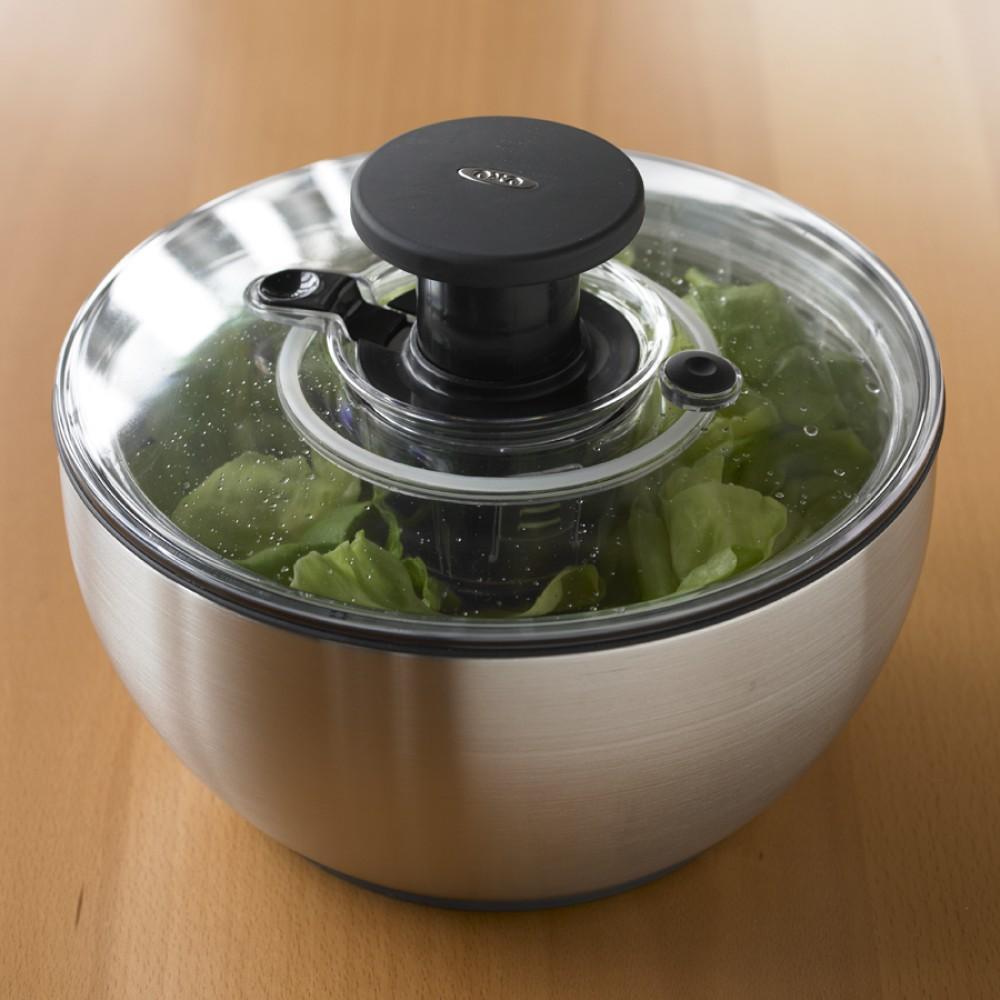 oxo stainless steel salad spinner williams sonoma au. Black Bedroom Furniture Sets. Home Design Ideas