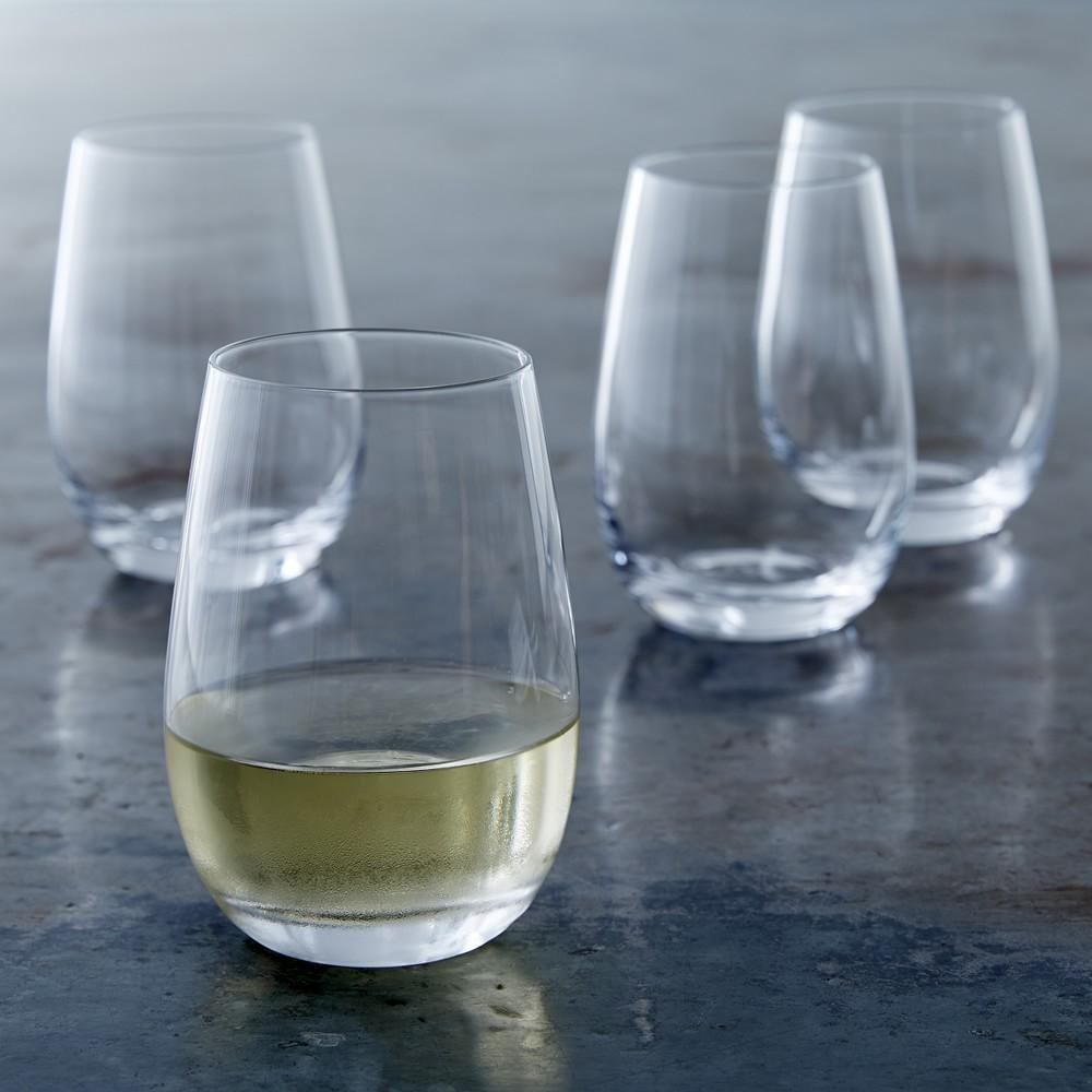 Williams Sonoma Open Kitchen Stemless White Wine Glass
