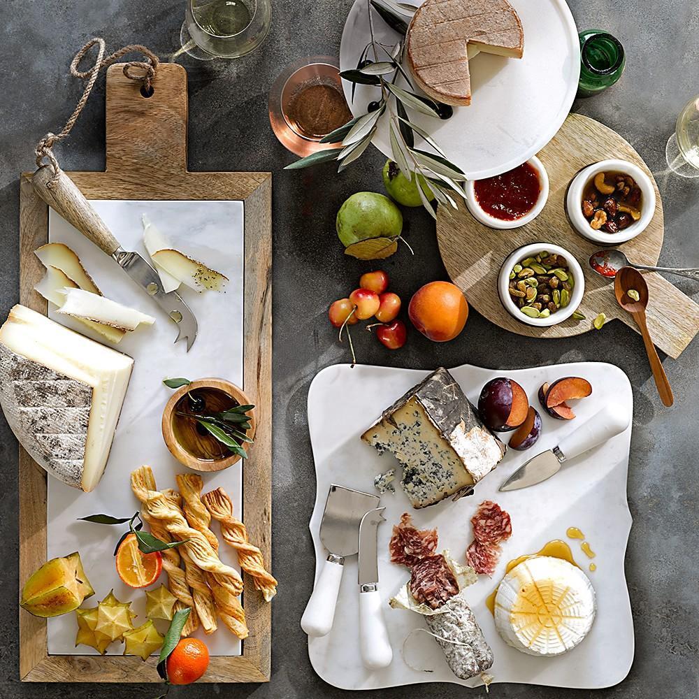 Scalloped White Marble Cheese Board Williams Sonoma Au