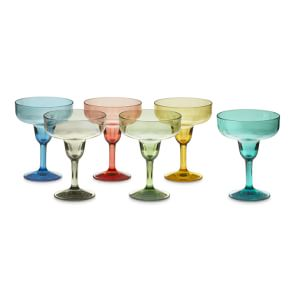 DuraClear® Outdoor Margarita Glasses, Set of 6, Multicolour