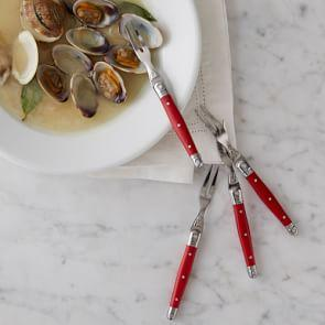 Laguiole Cocktail Forks Set of 4, Red