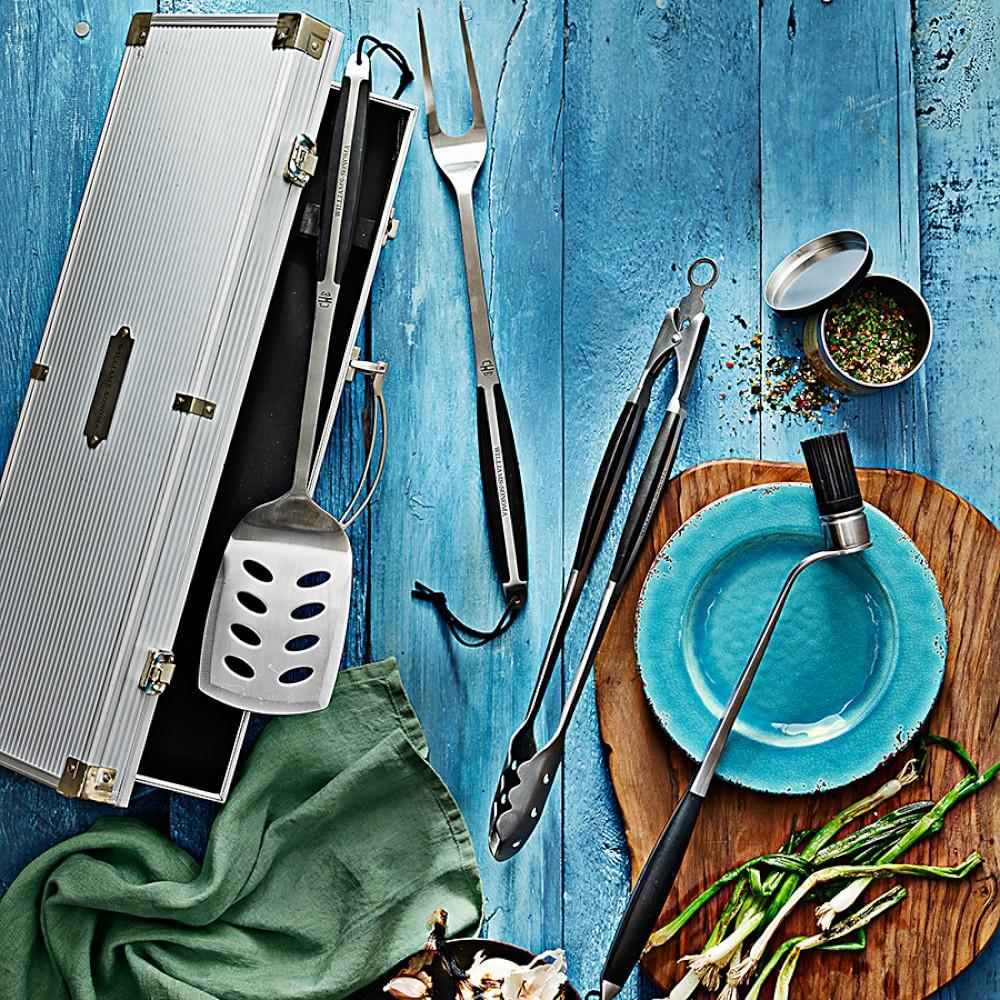 Williams Sonoma Stainless-Steel BBQ Tools, Set of 4