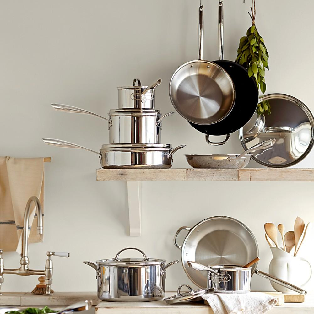 Williams Sonoma Thermo-Clad Stainless-Steel NS Frying Pan