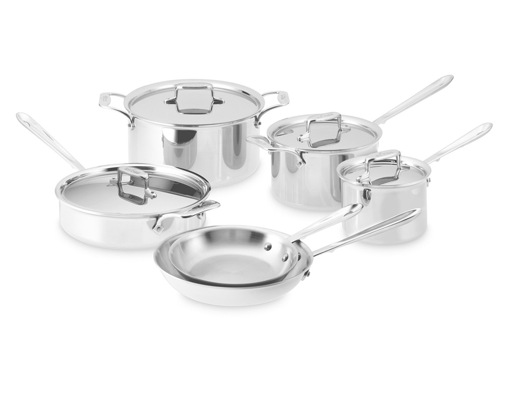 All clad stainless steel cookware sets - All Clad D5 Stainless Steel 10 Piece Cookware Set