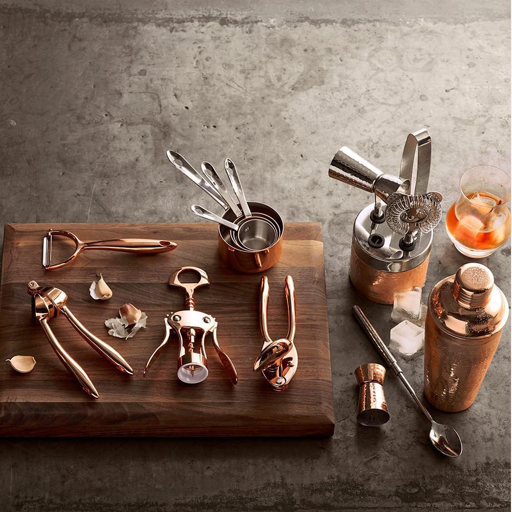 Copper Hammered Bar Tool Set