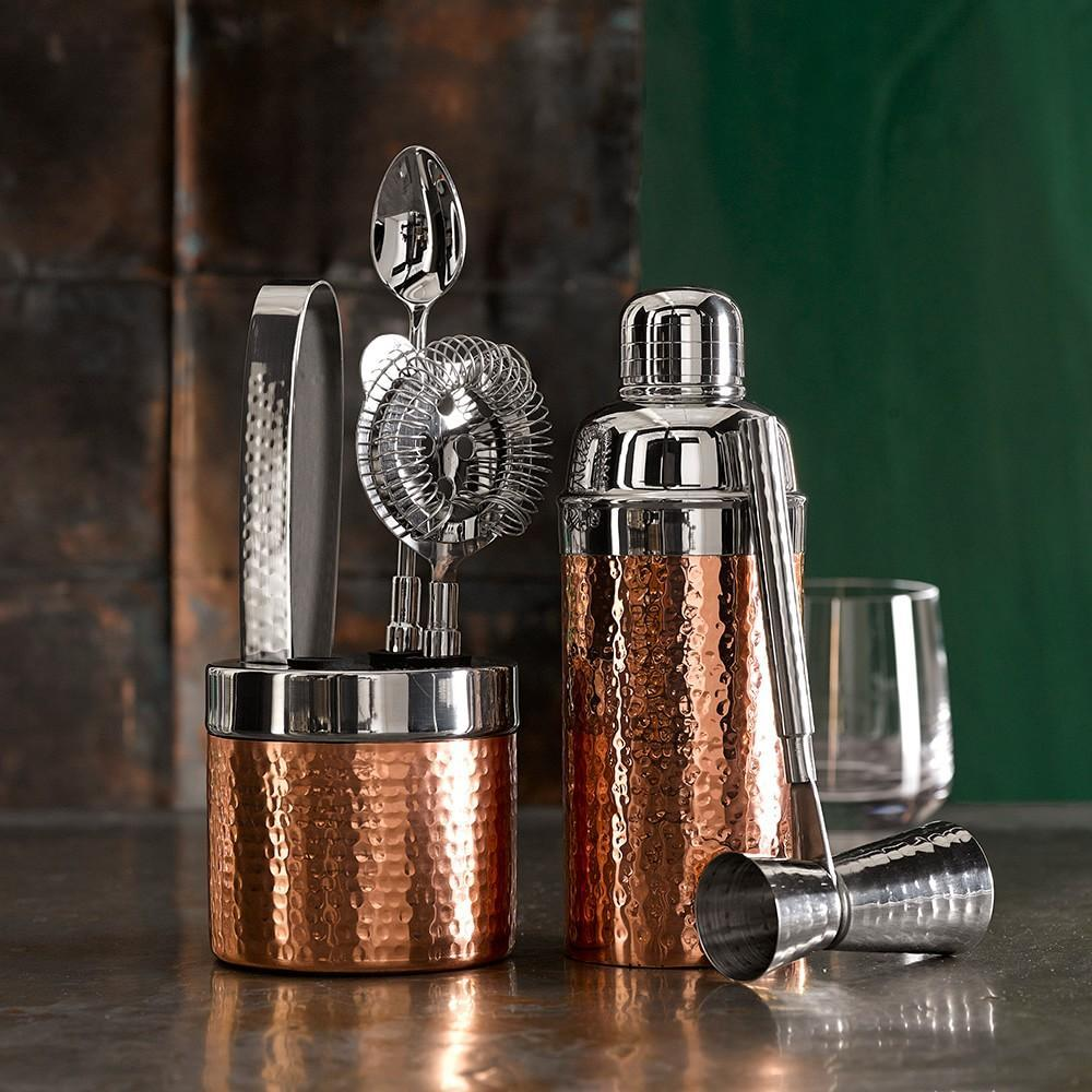 Copper Hammered Cocktail Shaker