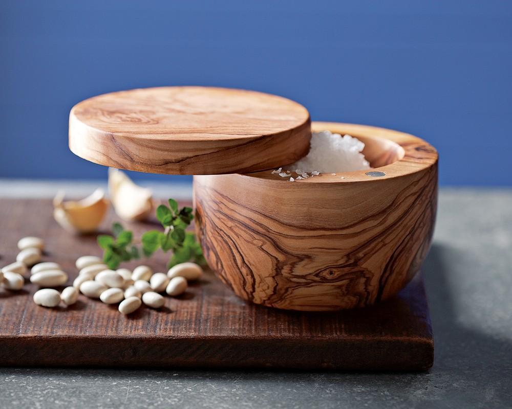 Olive Wood Salt Keeper Williams Sonoma Au