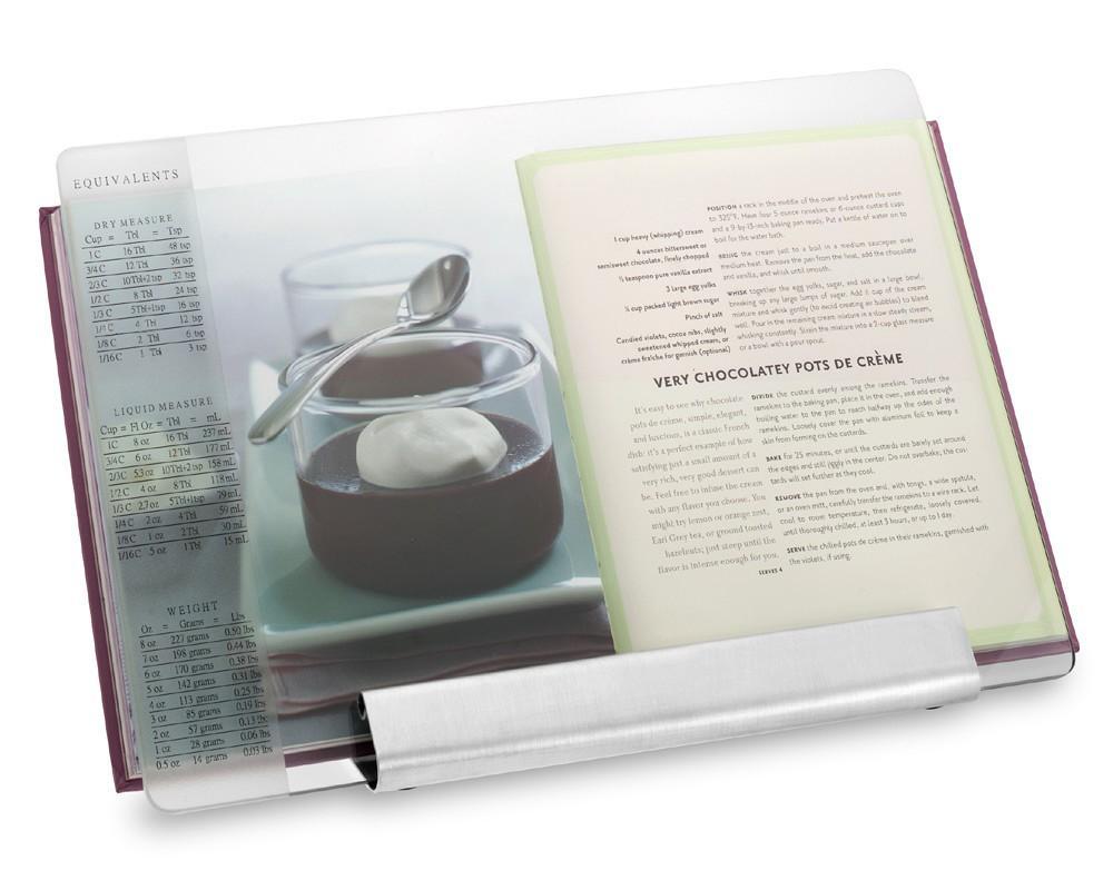 Glass & Stainless Steel Cookbook Holder