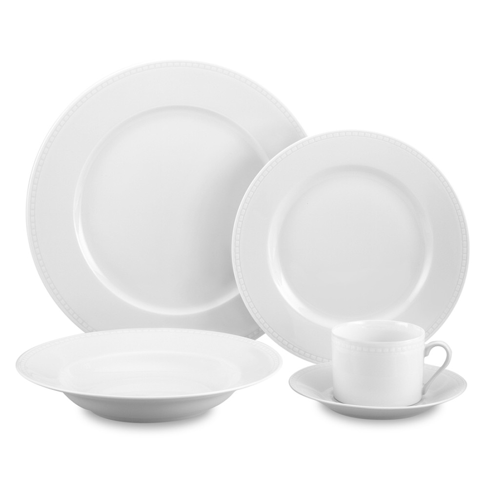 Apilco Beaded Hemstitch Porcelain Dinnerware Collection