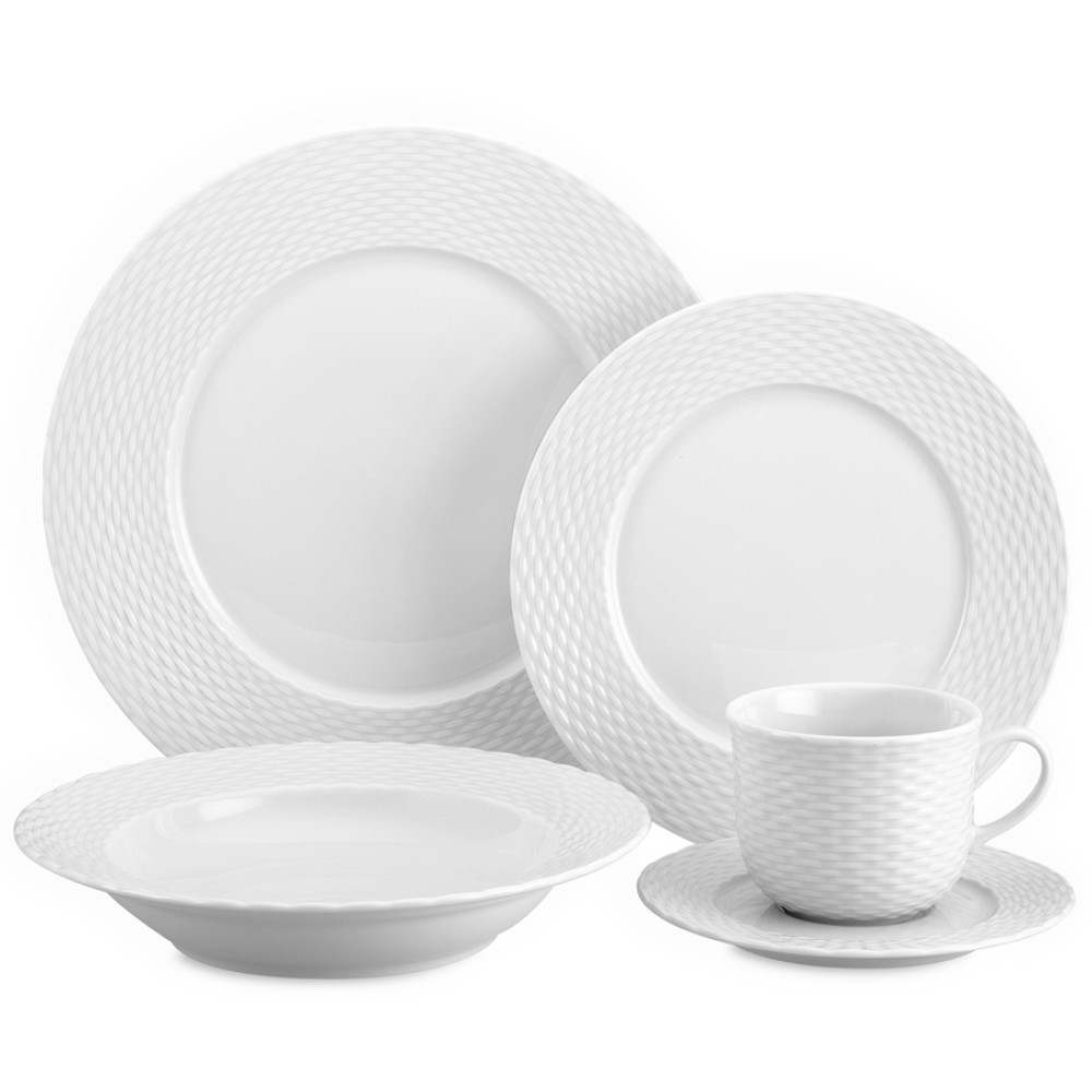 Pillivuyt Basketweave Porcelain Dinnerware Collection