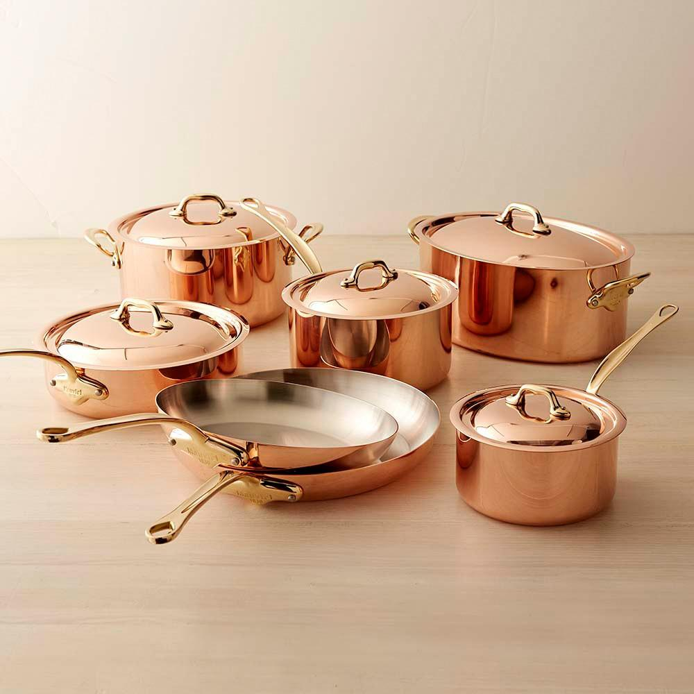 Mauviel Copper 12-Piece Cookware Set