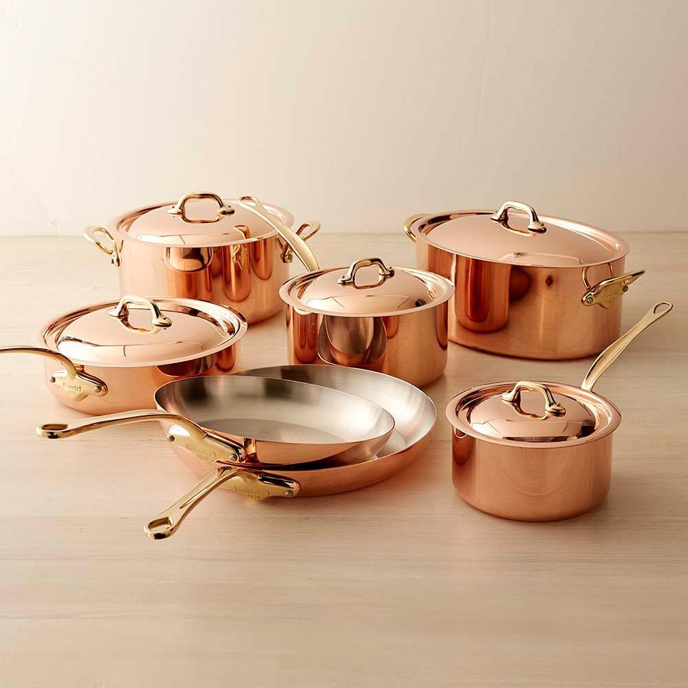 mauviel copper 12 piece cookware set williams sonoma au. Black Bedroom Furniture Sets. Home Design Ideas