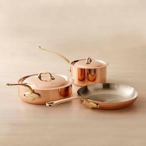 Mauviel Copper 5-Piece Cookware Set, Small