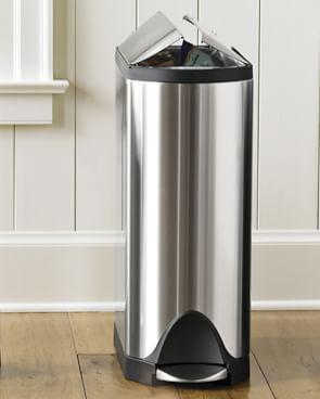 simplehuman Stainless-Steel Fingerprint-Proof Butterfly Rubbish Bin