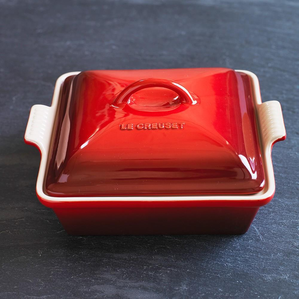 Le Creuset Stoneware Shallow Square Covered Baker