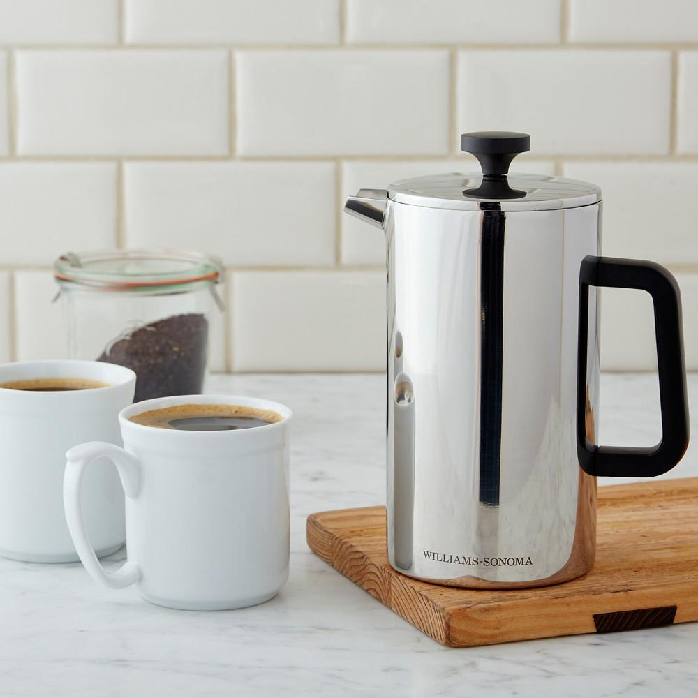 williams sonoma stainless steel french press williams. Black Bedroom Furniture Sets. Home Design Ideas