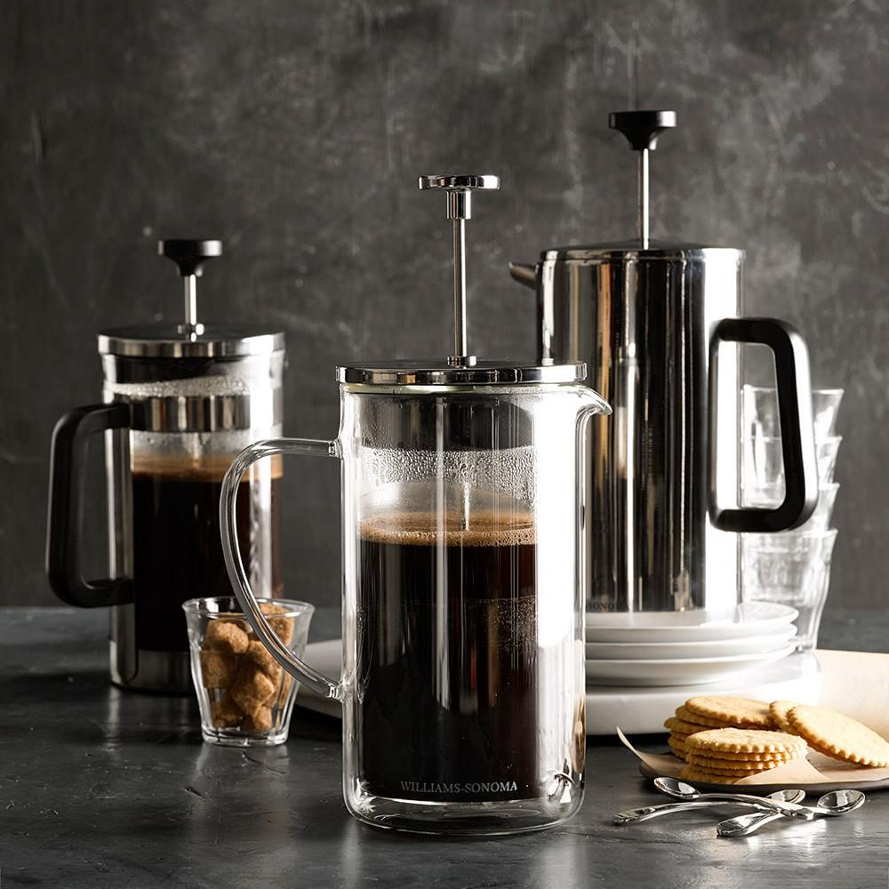 williams sonoma double wall glass french press williams. Black Bedroom Furniture Sets. Home Design Ideas