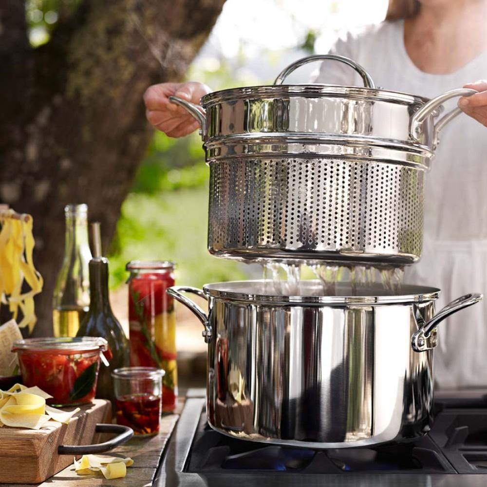 Williams-Sonoma Thermo-Clad™ Stainless-Steel Multipot with Pasta Insert, 7.5 L