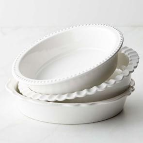 Williams Sonoma Stoneware Pie Dish, Set of 3