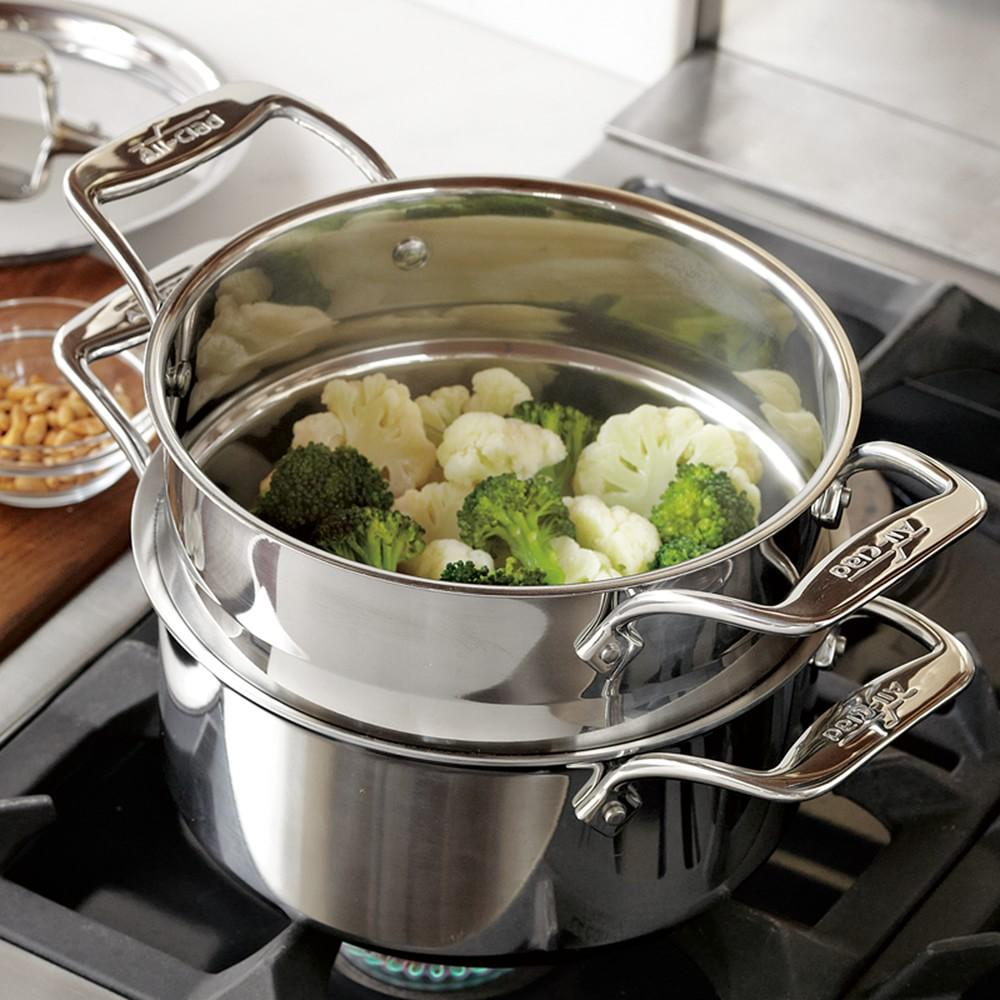 All Clad D5 Stainless Steel 3 L Steamer Set Williams