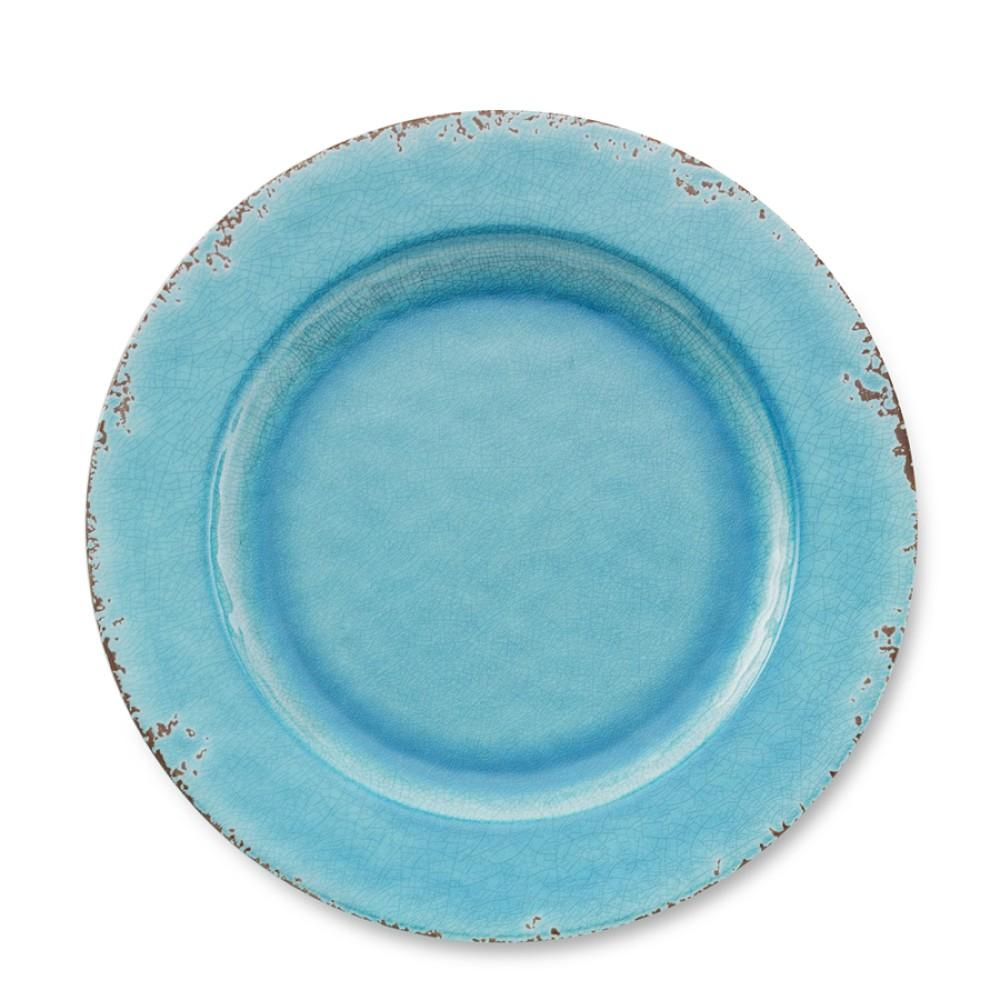 Rustic Melamine Dinner Plate, Turquoise | Williams Sonoma AU