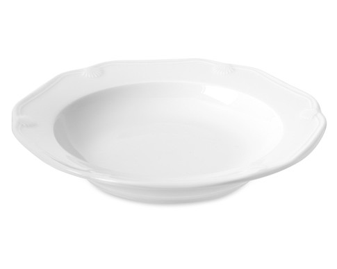 Eclectique Soup Plate, White