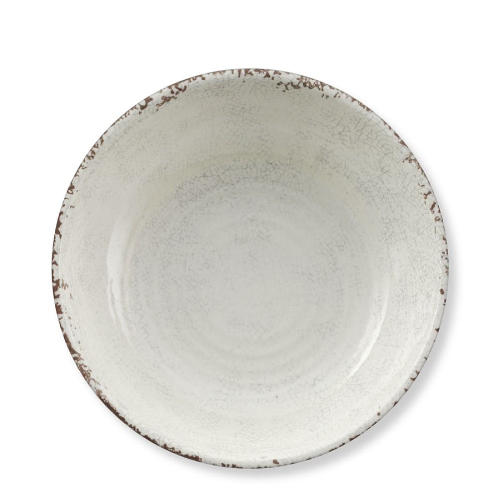 Rustic Melamine Individual Bowl, White