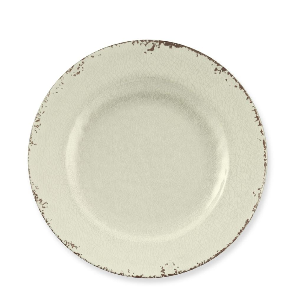 Rustic Melamine Salad Plate, White