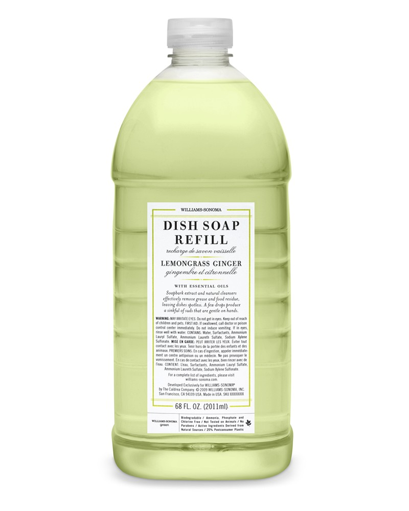 Williams Sonoma Essential Oils Dish Soap, Lemongrass Ginger