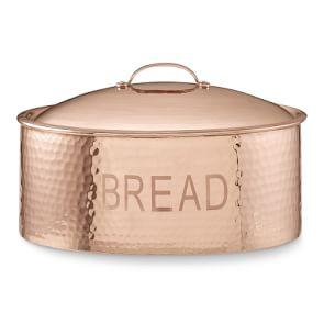 Hammered Copper Bread Box