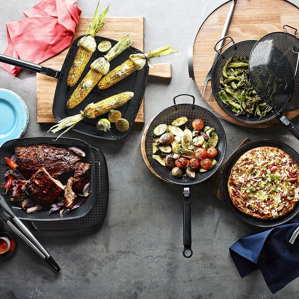 High-Heat Nonstick Steel Grill Griddle