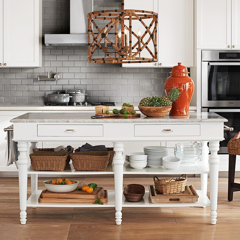 Larkspur Marble Top Kitchen Island Williams Sonoma Au