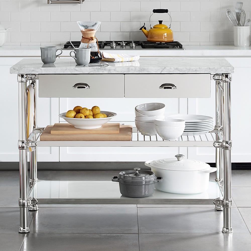 Island Modular Kitchen Designs: Modular Kitchen Island Polished Nickel