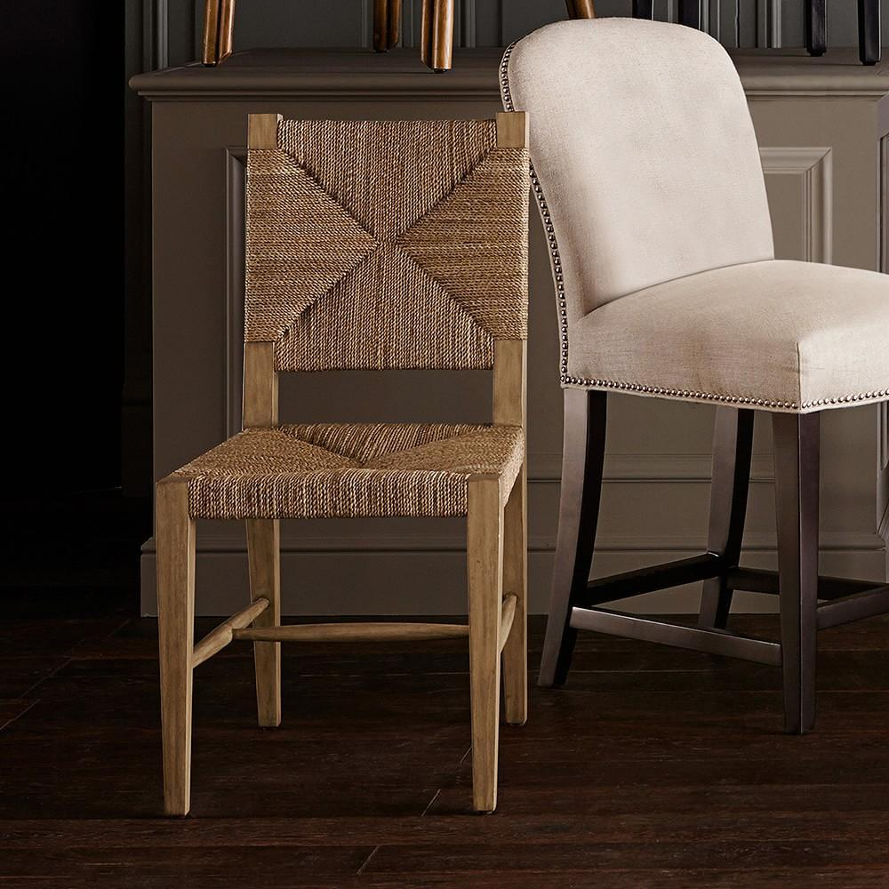 Rutherford Woven Rush Dining Side Chair Williams Sonoma Au