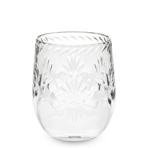 Sonora Etched Stemless Wine Glasses