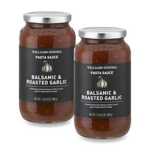 Williams Sonoma Pasta Sauce, Balsamic Roasted Garlic