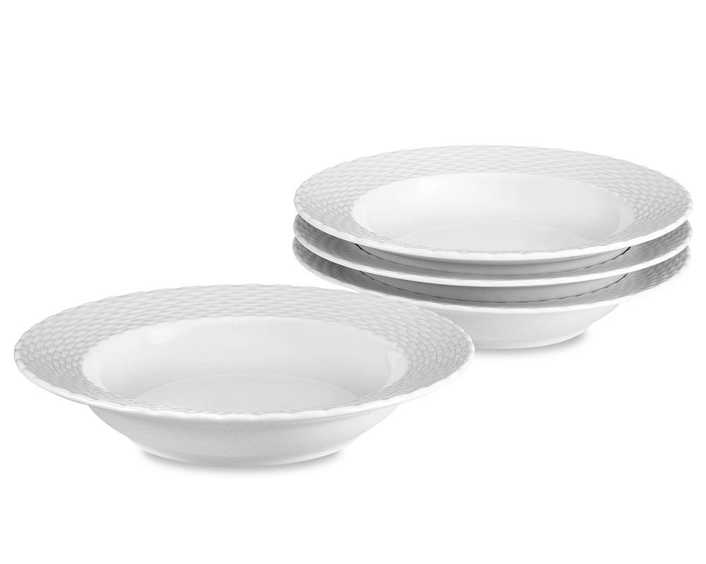 Pillivuyt Basketweave Porcelain Soup Plate