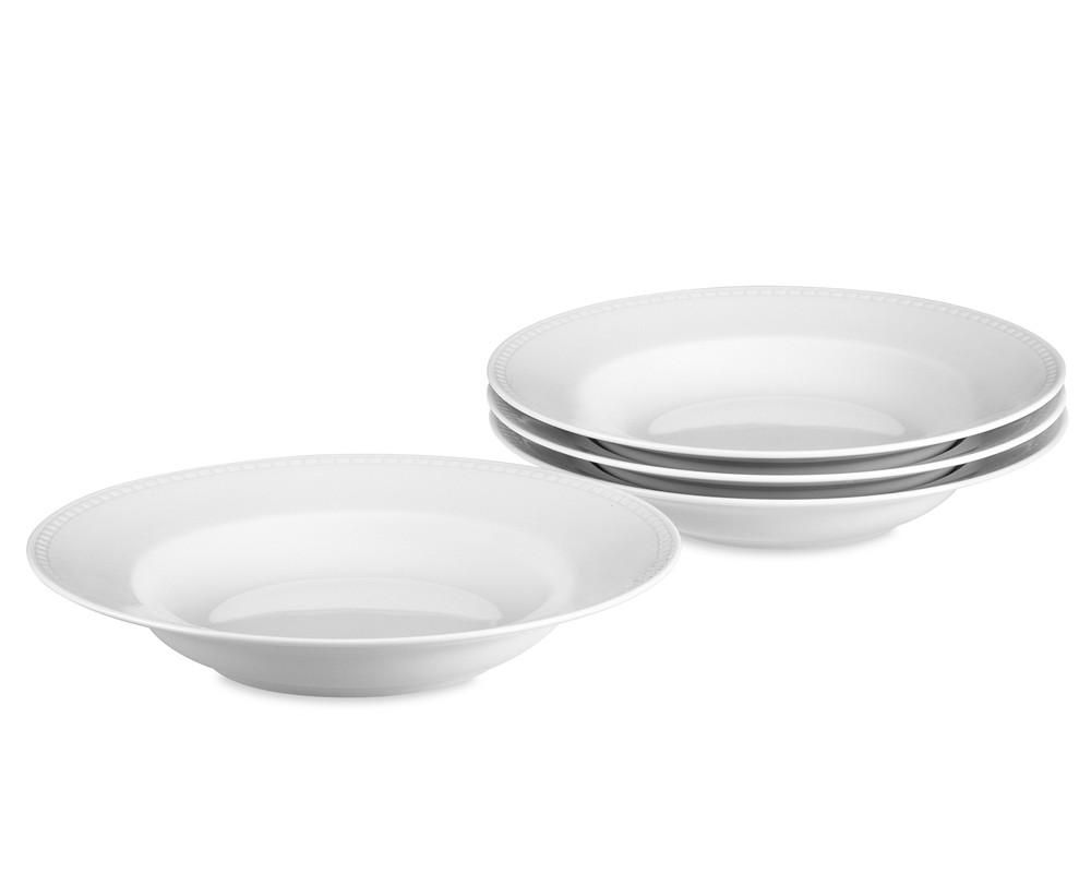 Apilco Beaded Hemstitch Porcelain Soup Plate