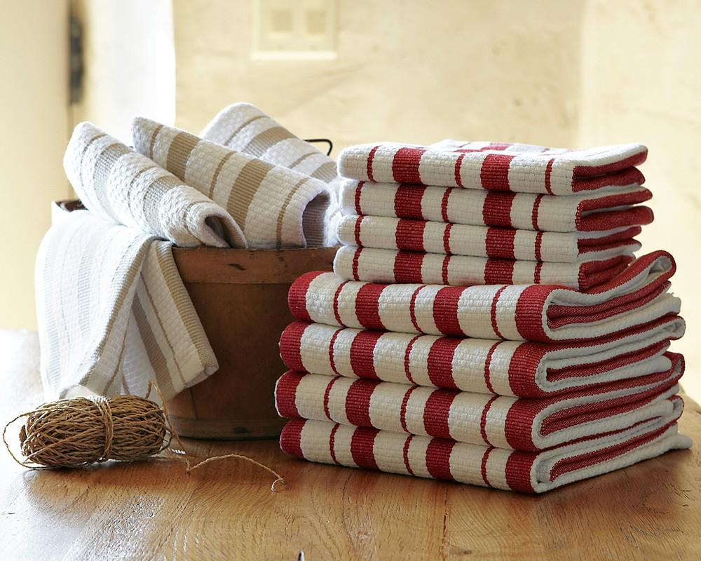 Williams Sonoma Striped Dish Cloth Set Of 4 Williams