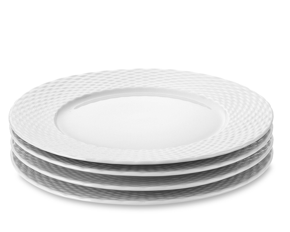 Pillivuyt Basketweave Porcelain Dinner Plate
