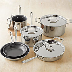All-Clad d5 Stainless-Steel Nonstick 10-Piece Cookware Set