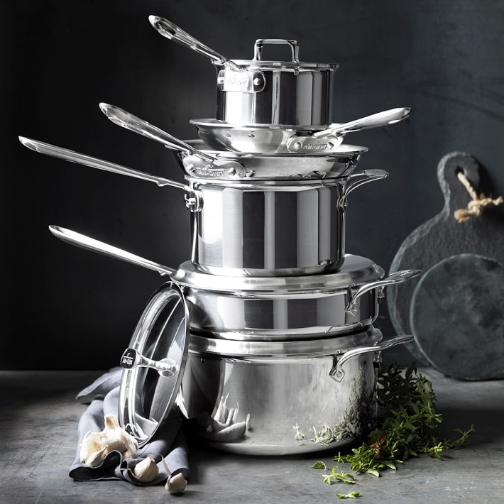 All Clad D5 Stainless Steel 10 Piece Cookware Set