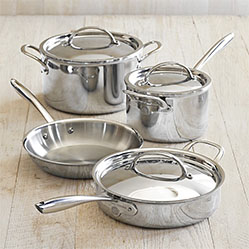 Williams Sonoma Thermo Clad 170 Stainless Steel 7 Piece