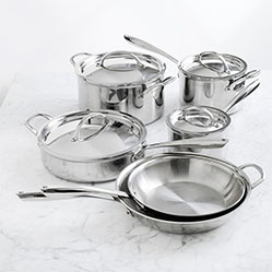 Williams Sonoma Thermo-Clad™ Stainless-Steel 10-Piece Cookware Set