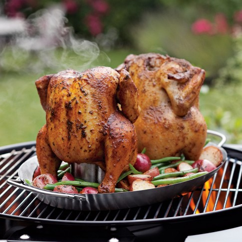 Two-in-One Vertical Chicken Roaster